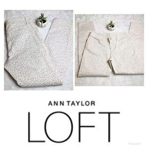 LOFT | Leopard Modern Skinny Ankle Jeans 8 29